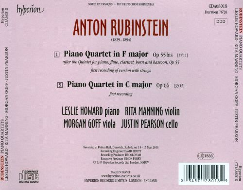 Rubinstein: Piano Quartets