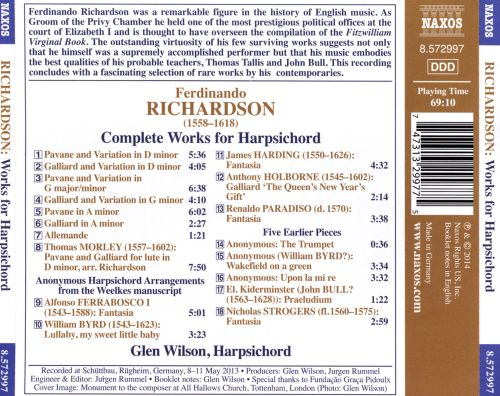 Ferdinando Richardson: Complete Works for Harpsichord