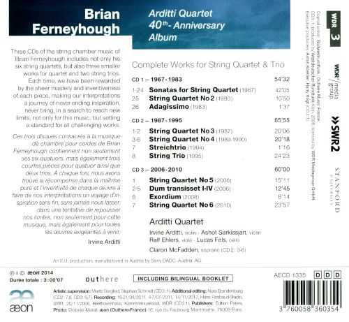 Brian Ferneyhough: Complete Works for String Quartet & Trios