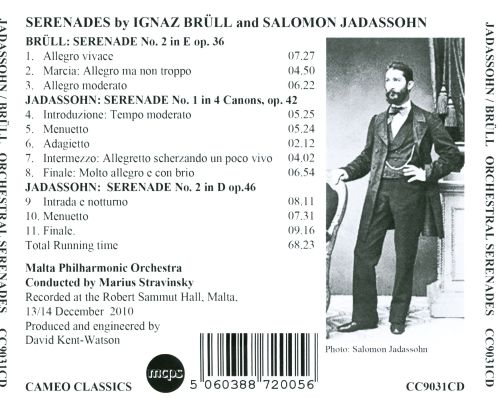 Music of 19th C. Jewish German Composers, Vol. 3: Jadassohn, Brüll - Serenades for orchestra