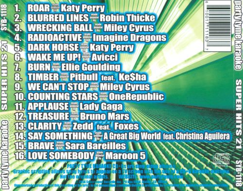 Party Tyme Karaoke: Super Hits, Vol. 21