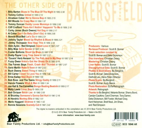 The Other Side of Bakersfield, Vol. 1: 1950s & 60s Boppers and Rockers From