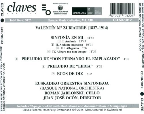 Basque Music Collection Vol. 13: Valentín Ma Zubiaurre