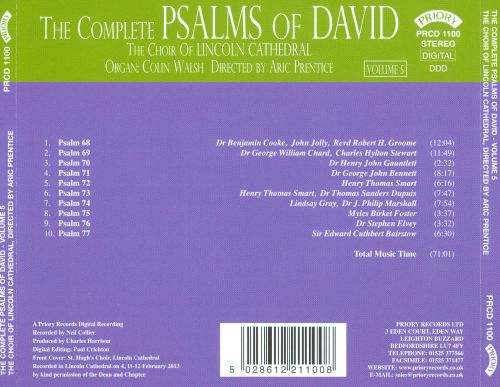 The Complete Psalms of David, Vol. 5