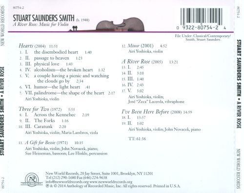 Stuart Saunders Smith: A River Rose - Music for Violin