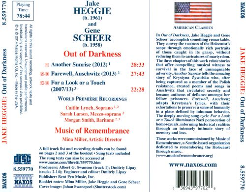 Heggie / Scheer: Out of Darkness - An Opera of Survival