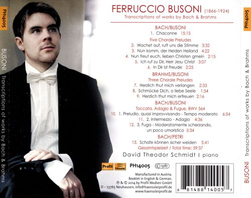 Busoni: Transciptions of works by Bach & Brahms