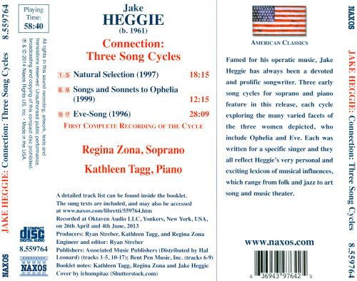 Heggie: Connection - Three Song Cycles
