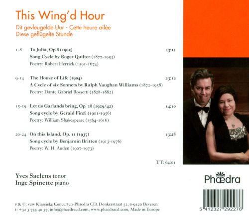 This Wing'd Hour: English Song Cycles