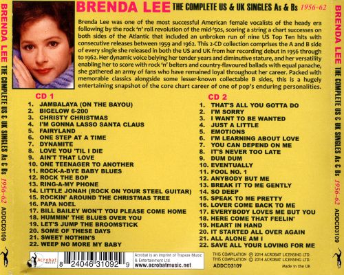 The Complete US & UK Singles As & Bs: 1956-62