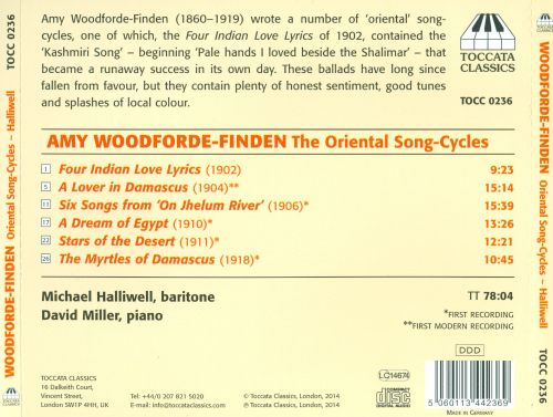 Amy Woodforde Finden The Oriental Song Cycles Michael Halliwell