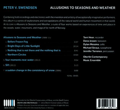 Peter V. Swendsen: Allusions to Seasons and Weather
