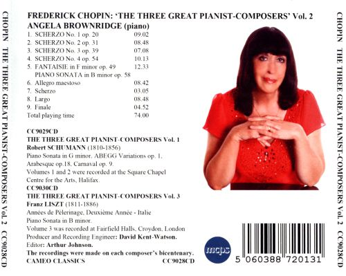 The Three Great Pianist Composers, Vol. 2: Frederick Chopin