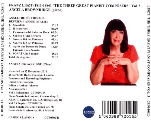 The Three Great Pianist Composers, Vol. 3: Franz Liszt