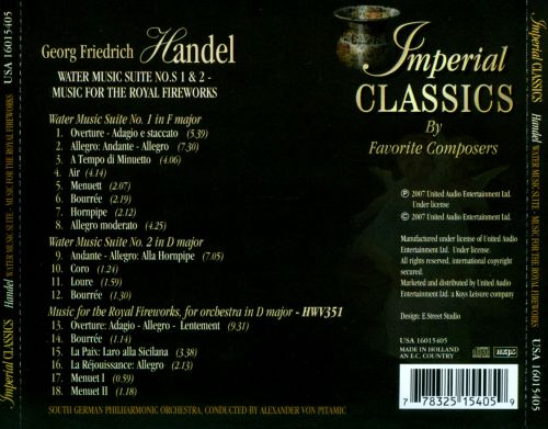 Handel: Water Music Suite Nos. 1 & 2; Music for the Royal Fireworks