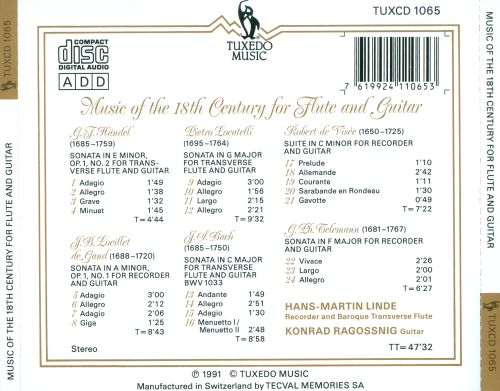 Music of the 18th Century for Flute & Guitar