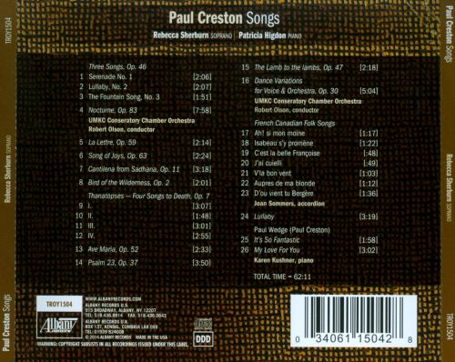 Paul Creston: Songs
