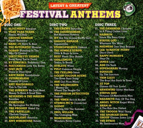 Latest & Greatest Festival Anthems