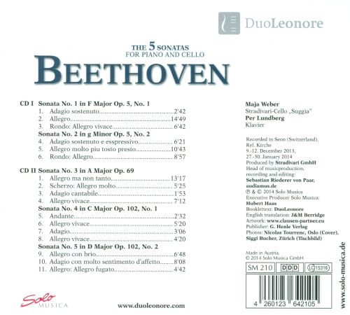 Beethoven: The 5 Sonatas for Piano and Cello