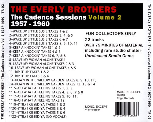 The Cadence Sessions 1957-1960, Vol.2