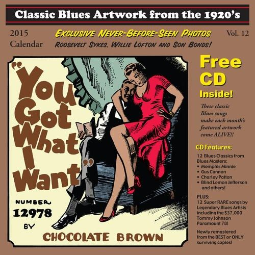 Classic Blues Artwork From the 1920s: 2015 Calendar