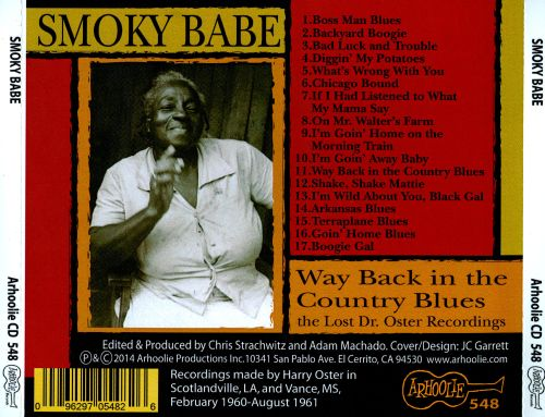 The Lost Dr. Oster Recordings: Way Back In the Country Blues