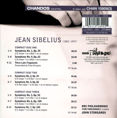 Sibelius: Complete Symphonies; 3 Late Fragments