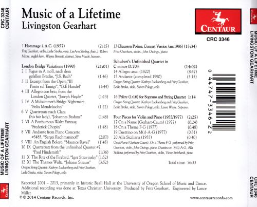 Music of a Lifetime: Works by Livingston Gearhart
