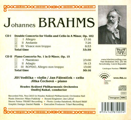 Brahms: Double Concerto for Violin and Cello in A minor, Op. 102; Piano Concerto in D minor, Op. 15