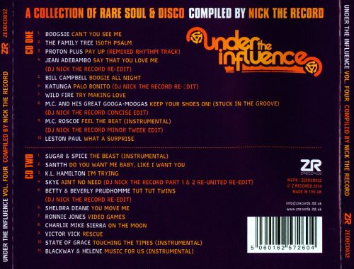 Under the Influence, Vol. 4: Compiled By Nick The Record