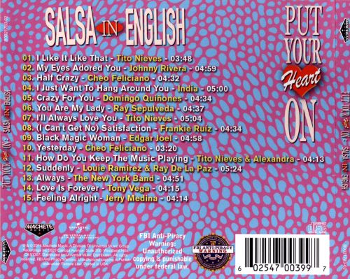 Put Your Heart On: Salsa In English: For Lovers And Dancers