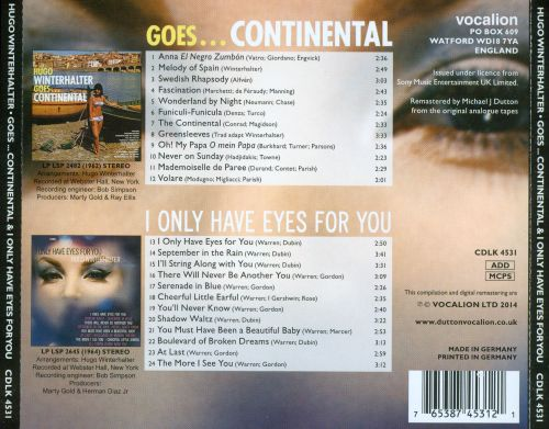 Goes...Continental & I Only Have Eyes for You