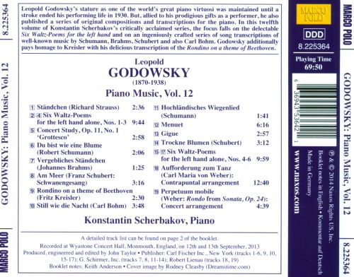 Godowsky: Six Waltz-Poems for the left hand; Concert Study; Transcriptions
