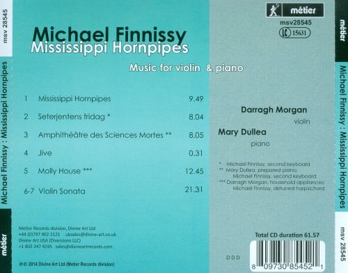 Michael Finnissy: Mississippi Hornpipes - Music for Violin and Piano