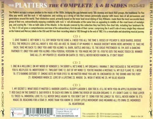 The Complete A & B Sides 1953-62