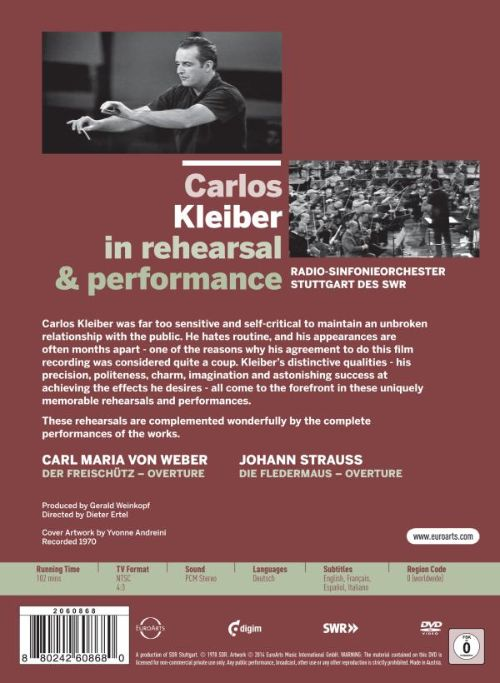 Carlos Kleiber in Rehearsal & Performance [Video]