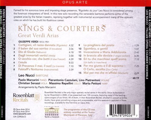 Kings & Courtiers: Great Verdi Arias