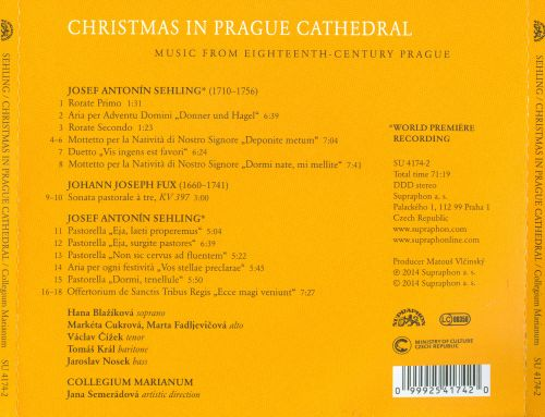 Music from Eighteenth-Century Prague: Josef Antonín Sehling - Christmas in Prague Cathedral