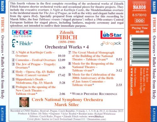 Fibich: Overtures; Ballet Music from Hedy