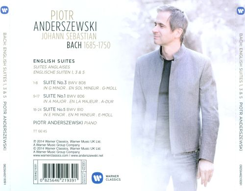 Bach: English Suites Nos. 1, 3, 5