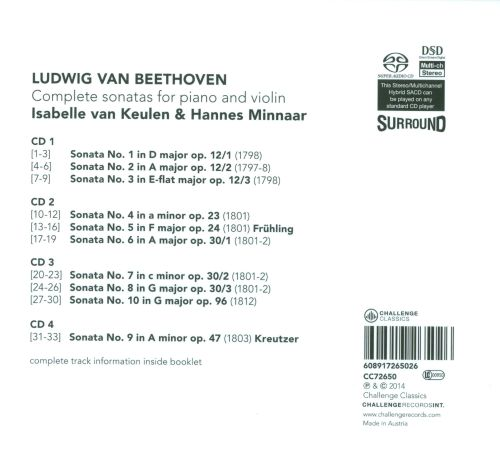 Beethoven: Complete Sonatas for Piano and Violin