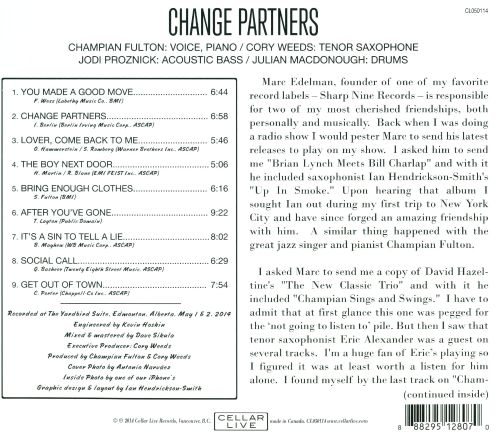 Change Partners: Live At the Yardbird Suite
