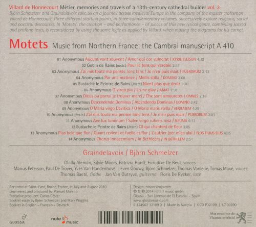 Motets: Music from Northern France - The Cambrai Manuscript A 410
