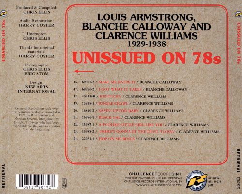 Unissued on 78s: Louis Armstrong, Blanche Calloway and Clarence Williams 1929-1938