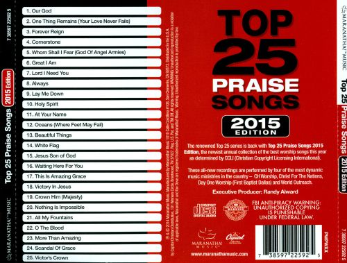 Top 25 Praise Songs 2015