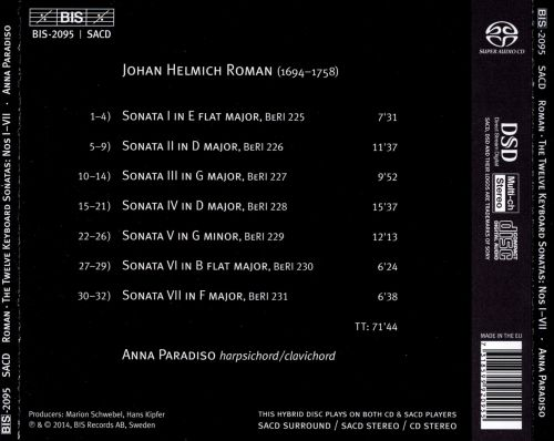 J.H. Roman: The 12 Keyboard Sonatas, Nos. 1-7