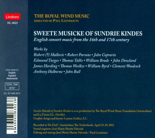Sweete Musicke of Sundrie Kindes