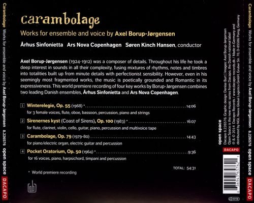 Carambolage: Works for ensemble and voice by Axel Borup-Jørgensen