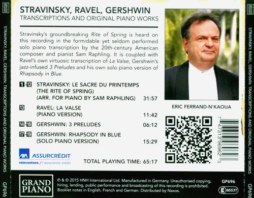 Stravinsky, Ravel, Gershwin: Transcriptions and Original Piano Works