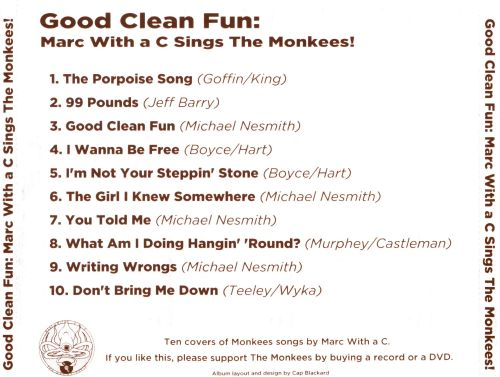 Good Clean Fun: Marc With a C Sings the Monkees!